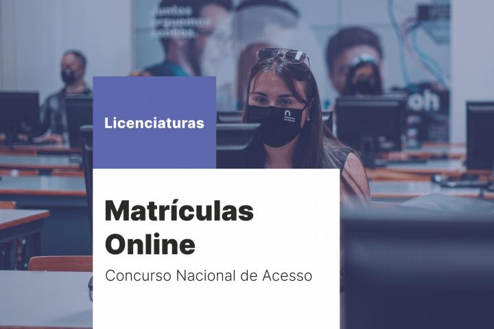 Matrículas Online – Concurso Nacional de Acesso